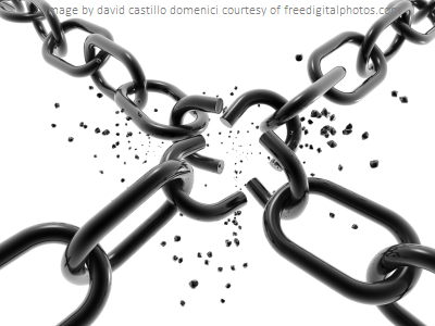 image of chain breaking...detachment